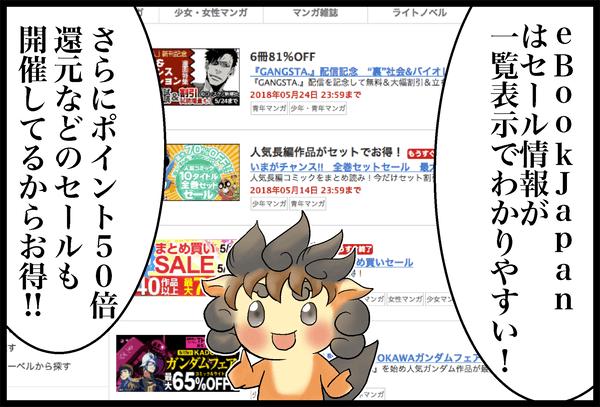 eBookJapanセール